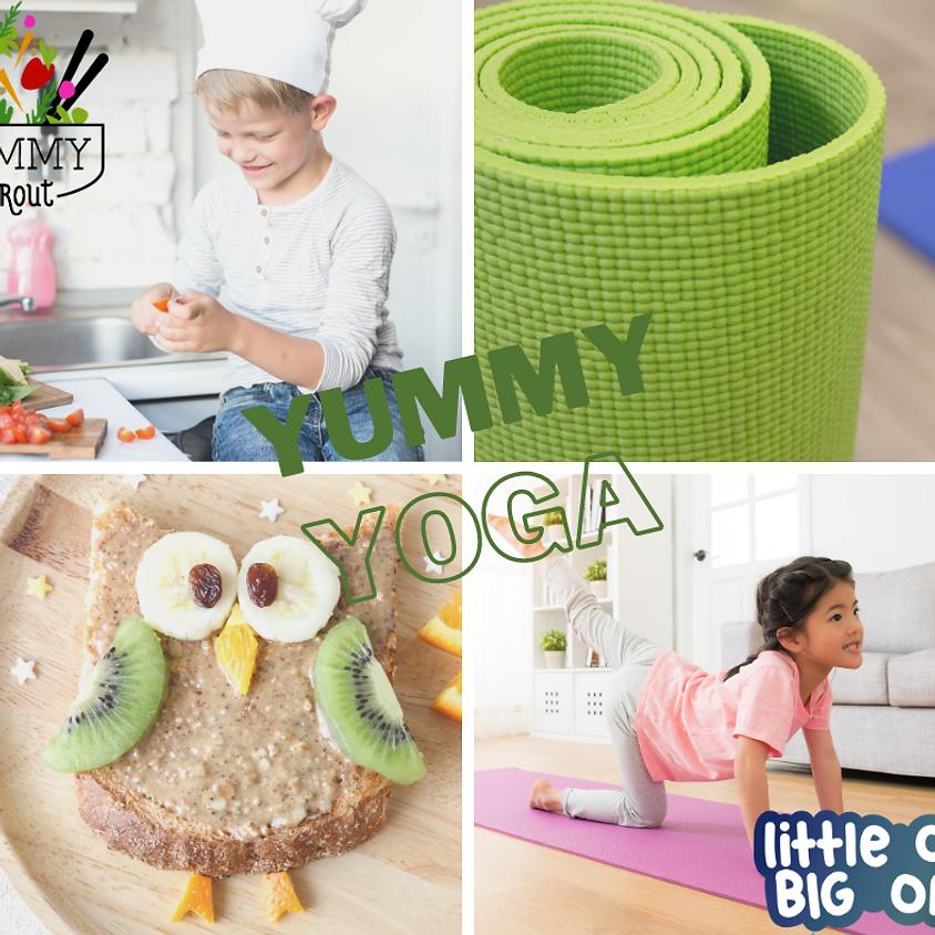 Yummy Yoga: A Virtual Yoga and Culinary Special Event! Jan 27th @ 10 am!