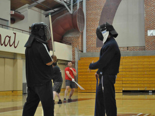 Stick fencing class at Stanford University