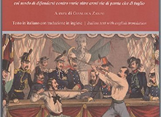 Published the new reprint of historical assay on Italian Stick Fencing and self defense by Giuseppe