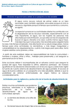 Ficha sobre protección del agua