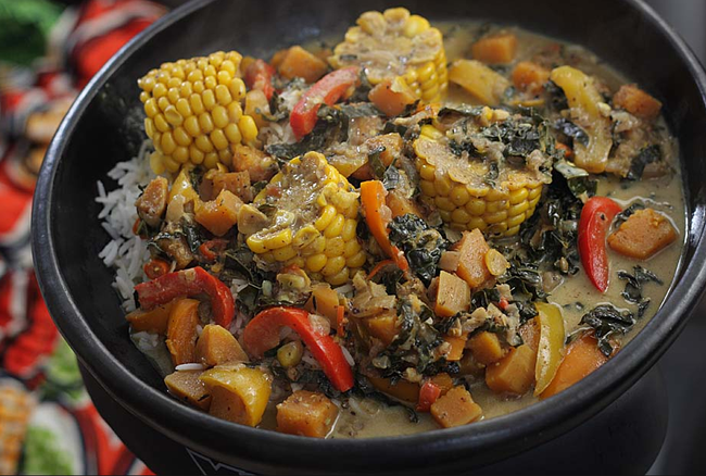 In The Marley Kitchen: Vegetable and bammy 'Rundown'