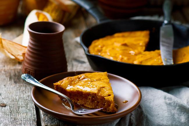 Pumpkin Ginger Cornbread