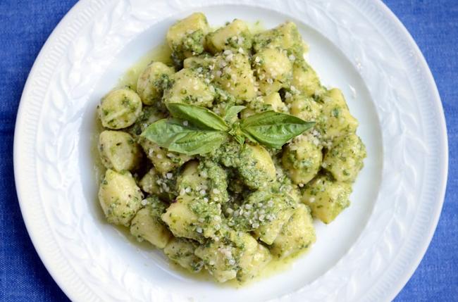 In The Marley Kitchen: Kale Hemp Pesto with Homemade Gnocchi