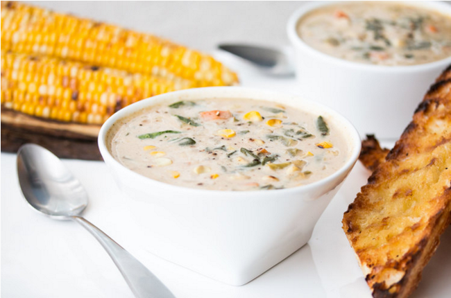 Vegan Roasted Corn Chowder