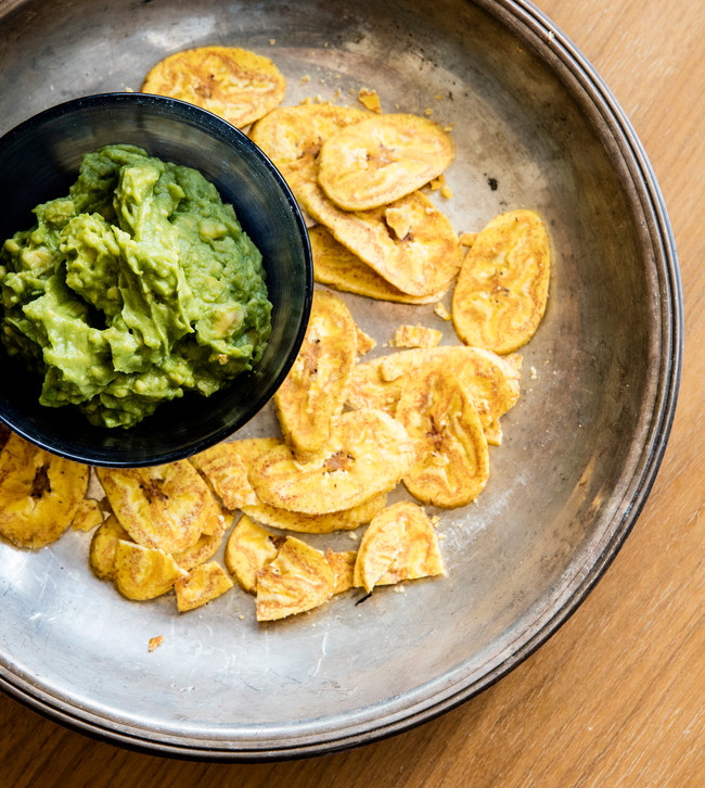 Guacamole with Fried Plantain Chips