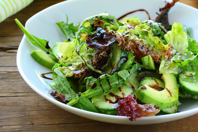 Salad Greens with Marley Coffee Balsamic Vinaigrette