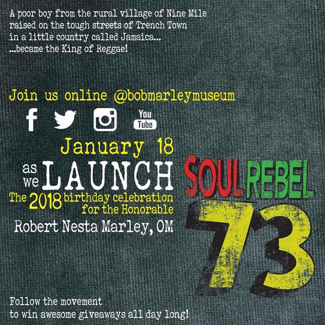 Bob Marley's 73rd Soul Rebel Birthday Celebration!