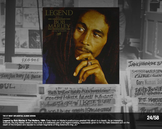 Legend, Bob Marley and the Wailers 1984, Most Influential Album Covers