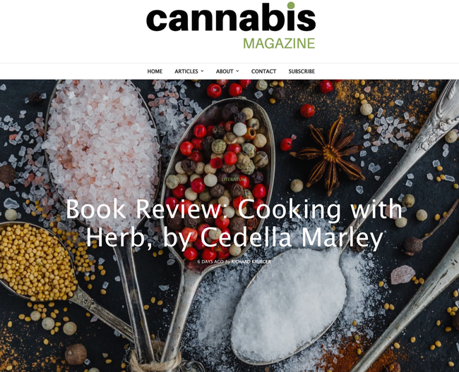 Cannabis Magazine Book Review: Cooking With Herb by Cedella Marley