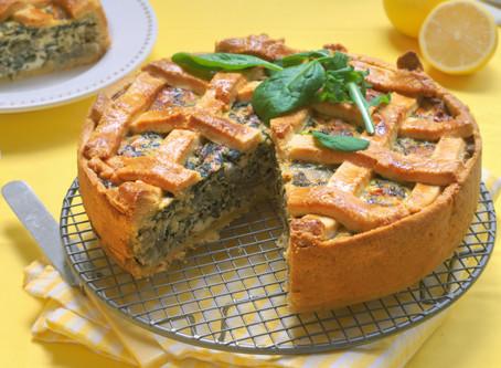 Cheesy Callaloo Pie