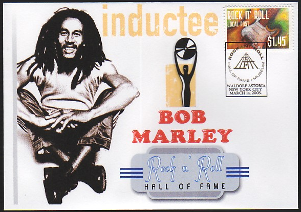 Bob Marley Inducted into the Rock n Roll Hall of Fame 1994
