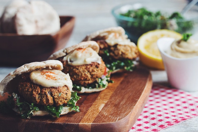 In The Marley Kitchen: Baked Falafel with Hemp Tabbouleh and Spicy Tahini