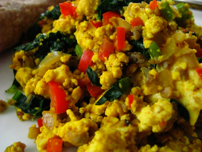 IN THE MARLEY KITCHEN: Tofu Scramble with Sweet Potato Fries