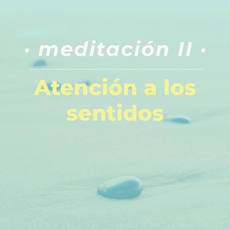 Meditación II: atención a los sentidos