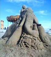 Sculpture-sable-sand-sculpture-lozza-elephant