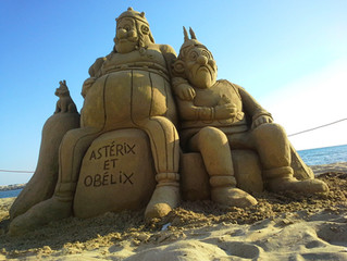 Sculpture-sable-sand-sculpture-lozza-asterix-obelix