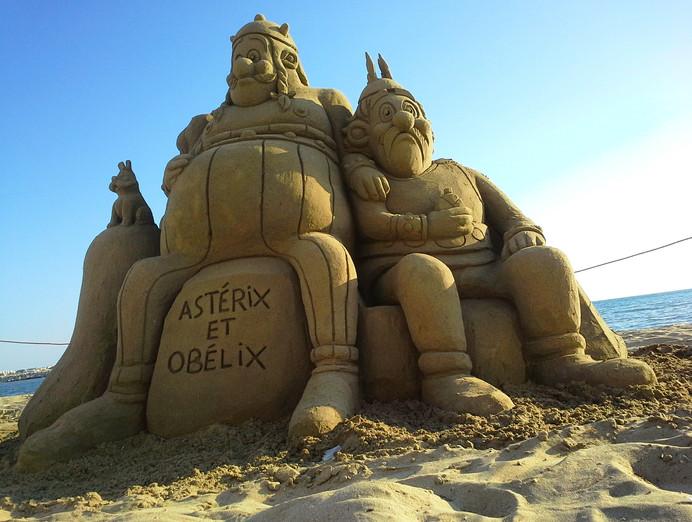Sculpture-sable-sand-sculpture-lozza-asterix-obelix