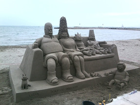 Sculpture-sable-sand-sculpture-lozza-simpsons