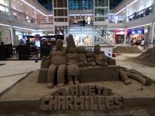 Sculpture-sable-sand-sculpture-lozza-planete charmille-centre commercial