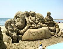 Sculpture-sable-sand-Dragon Ball-lozza-
