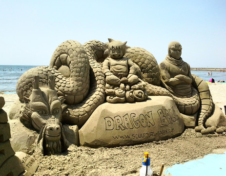 Sculpture-sable-sand-Dragon Ball-lozza-