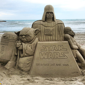 Sculpture-sable-sand-sculpture-lozza-star wars