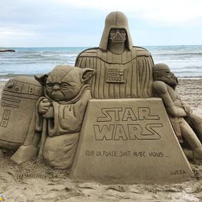 Sculpture-sable-sand-sculpture-lozza-star wars