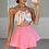 Thumbnail: BIANCA Hot Pink Premium High Waisted Skort