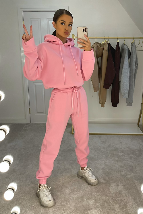 CARTER Hot Pink Thick Pull String Tracksuit Set
