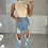 Thumbnail: SYDNEY Blue High Waisted Distressed Boyfriend Jeans