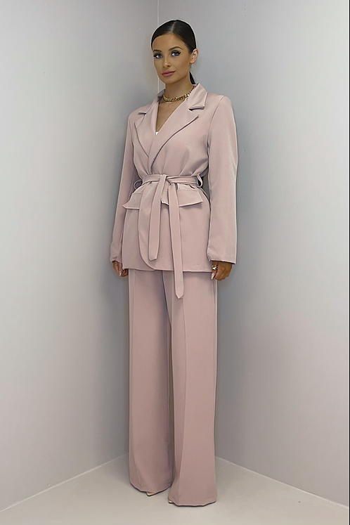 ROSIE Dusky Pink Wide Leg Trouser Suit