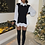 Thumbnail: CORA Black Knit Jumper Collared Shirt
