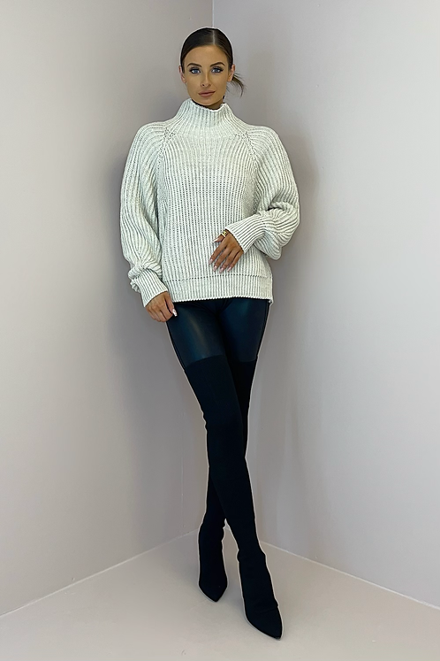 KIMMY Oatmeal Thick Cable Knit Jumper