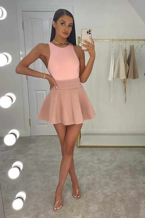 PEARL Premium Dusky Pink Fluffy Skirt