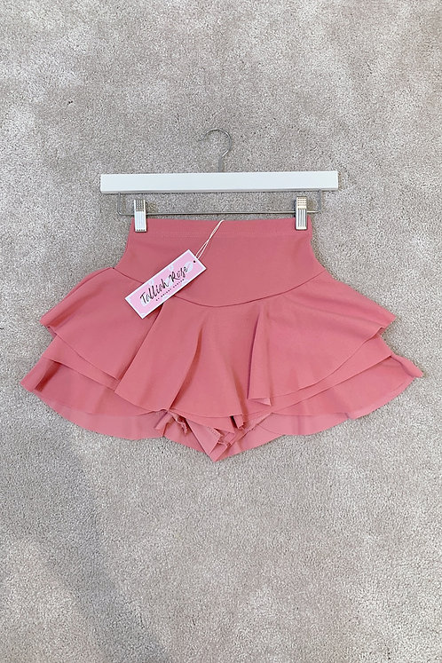 MADDISON Pink High Waisted Frill Skort (SALE)