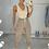 Thumbnail: LENA Beige Premium Stretch Rib Bodysuit