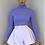Thumbnail: MORGAN Violet Stretch Rib Button Shoulder Crop Top