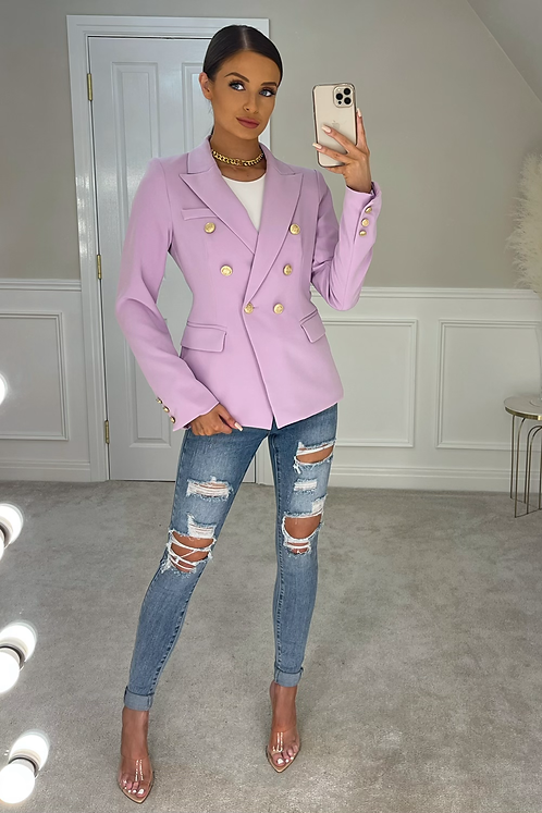 ANNABELLA Lilac Gold Buttoned Tailored Blazer