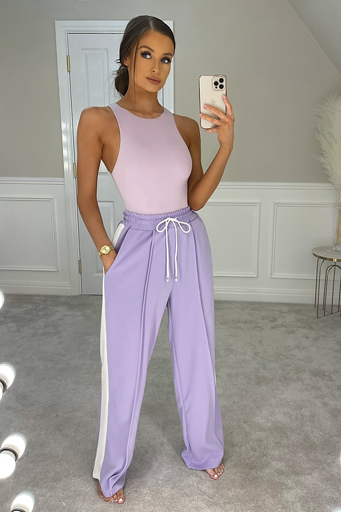 THEA Violet High Waist Wide Leg Trousers