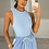 Thumbnail: JENNA Baby Blue Ribbed Bodysuit