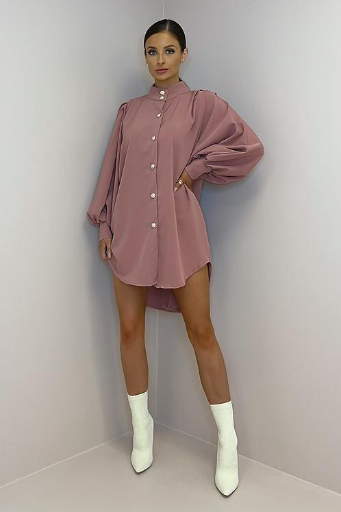 ALICE Mauve Oversized Shirt Dress