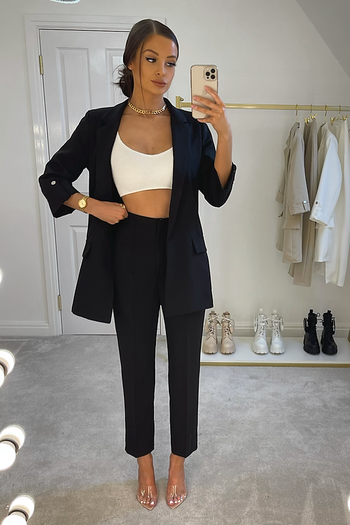 ELIZABETH Black Structured Pant Suit (SALE)