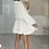 Thumbnail: RUBY White Belted Frill Shirt Dress