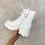 Thumbnail: HARPER White Chunky Pocket Boots
