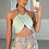 Thumbnail: CONNIE Mint Slinky Gold Chain Bralet