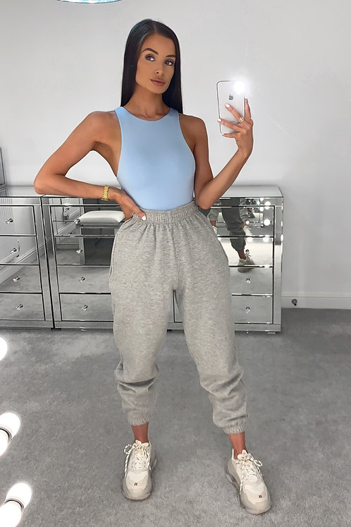 PIA Light Grey High Waisted Thick Joggers