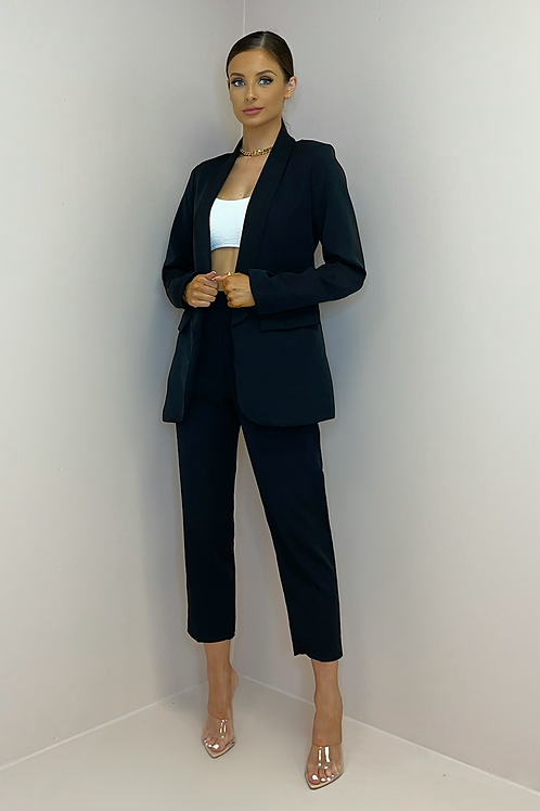 SIENNA Black Fitted Trouser Suit