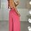 Thumbnail: ELLA Deep Pink Multiway Silky Palazzo Co Ord