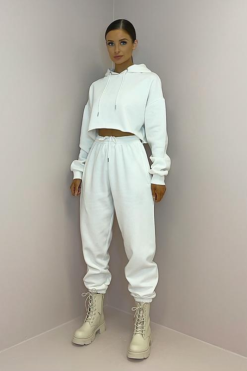 PAIGE White Oversized Cropped Tracksuit