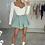Thumbnail: DEXY Sage High Waisted Flared Shorts